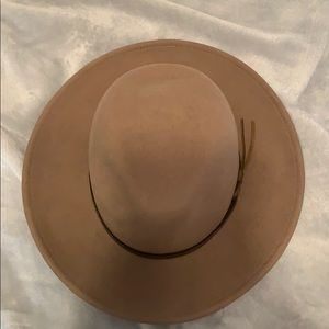 Tab/Brown Felt Hat, worn once!